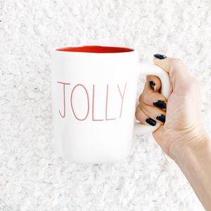 Rae Dunn Red JOLLY Mug NWT
